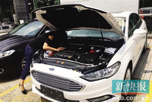 黄女士购买的长安福特小汽车尚未提车便发现发动机有严重的锈斑。