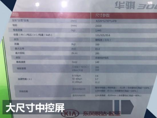 东风悦达起亚纯电动车参数曝光 续航超300km-图2